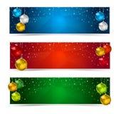 Bandeiras horizontais do Natal do polígono Fotos de Stock Royalty Free