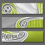 Bandeiras horizontais do vetor para o futebol Imagem de Stock