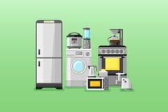 Bandeiras horizontais dos dispositivos de cozinha Imagens de Stock