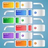 bandeiras infographic Imagens de Stock Royalty Free