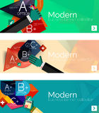 Bandeiras infographic do projeto liso moderno Fotografia de Stock