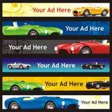 Bandeiras inteiramente editable do Web do vetor com l diferente Imagens de Stock