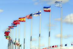 Bandeiras internacionais. Fotografia de Stock