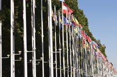 Bandeiras internacionais Foto de Stock