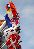Bandeiras internacionais imagens de stock royalty free