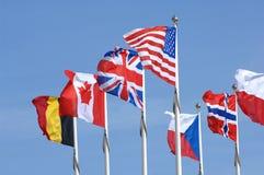 Bandeiras internacionais Foto de Stock Royalty Free