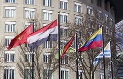 Bandeiras internacionais em Haia Fotografia de Stock