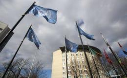 Bandeiras internacionais em Haia Fotos de Stock Royalty Free
