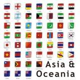 Bandeiras internacionais isoladas Fotografia de Stock Royalty Free