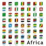 Bandeiras internacionais isoladas Foto de Stock Royalty Free