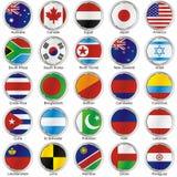 Bandeiras internacionais isoladas Foto de Stock
