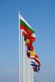 Bandeiras internacionais, Nisyros imagens de stock royalty free