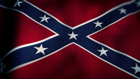 bandeiras 4K da confederação que acena no vento ilustração royalty free