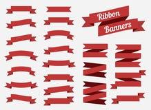 Bandeiras lisas das fitas isoladas no fundo branco Ajuste das burocracias Ilustra??o do vetor ilustração do vetor