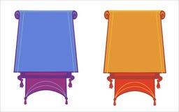 Bandeiras lisas do vetor isoladas horizontalmente no fundo branco ilustração do vetor
