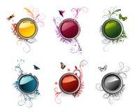 Bandeiras lustrosas do vetor Imagens de Stock