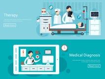 Bandeiras médicas do conceito ajustadas Imagens de Stock