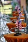 Bandeiras malaias Foto de Stock
