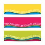 Bandeiras materiais da Web do projeto Grupo de bandeiras horizontais coloridas modernas do vetor, encabeçamentos de página Molde  Imagens de Stock