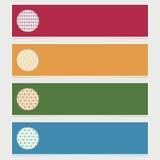 Bandeiras modernas Fotos de Stock Royalty Free