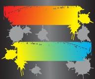 Bandeiras modernas coloridas Foto de Stock Royalty Free