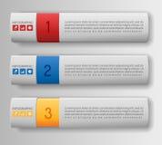 Bandeiras modernas da opção Fotografia de Stock