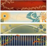 Bandeiras modernas de estalo Imagem de Stock Royalty Free