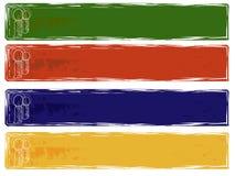 Bandeiras modernas do grunge Ilustração do Vetor