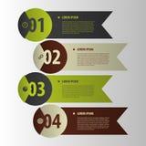 Bandeiras modernas Estilo do origâmi do elemento de Infographics Vetor Imagens de Stock Royalty Free
