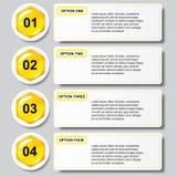 Bandeiras molde do número do negócio do projeto moderno da colmeia ou disposição do Web site Informação-gráficos Vetor Foto de Stock Royalty Free