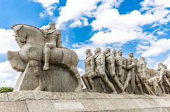 Bandeiras Monument in Ibirapuera Park, Sao Paulo, Brazil.  Royalty Free Stock Photos