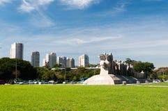 Bandeiras Monument Sao Paulo Brazil Stock Photo