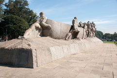 The Bandeiras Monument  in Sao Paulo Brazil Stock Images