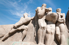 The Bandeiras Monument  in Sao Paulo Brazil Royalty Free Stock Photo
