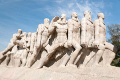 The Bandeiras Monument  in Sao Paulo Brazil Stock Photography