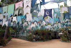 Bandeiras muçulmanas Fotografia de Stock