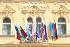 Bandeiras mundiais Fotografia de Stock