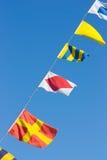 Bandeiras náuticas Imagens de Stock Royalty Free