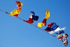 Bandeiras náuticas foto de stock