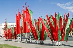 Bandeiras na área da constituição Fotografia de Stock Royalty Free