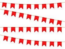 Bandeiras na linha da lavagem ilustração stock