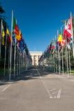 Bandeiras nacionais Fotografia de Stock Royalty Free