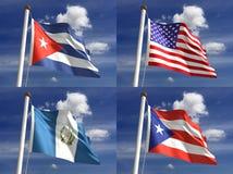 Bandeiras nacionais Foto de Stock Royalty Free