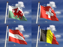 Bandeiras nacionais Fotos de Stock