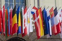 Bandeiras nacionais Fotos de Stock Royalty Free