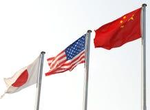 Bandeiras nacionais fotografia de stock