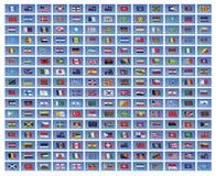 Bandeiras nacionais do mundo Imagem de Stock Royalty Free