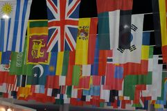 Bandeiras nacionais do mundo fotografia de stock