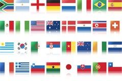 Bandeiras nacionais dos países ilustração stock