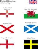 Bandeiras nacionais secundárias BRITÂNICAS ilustração royalty free